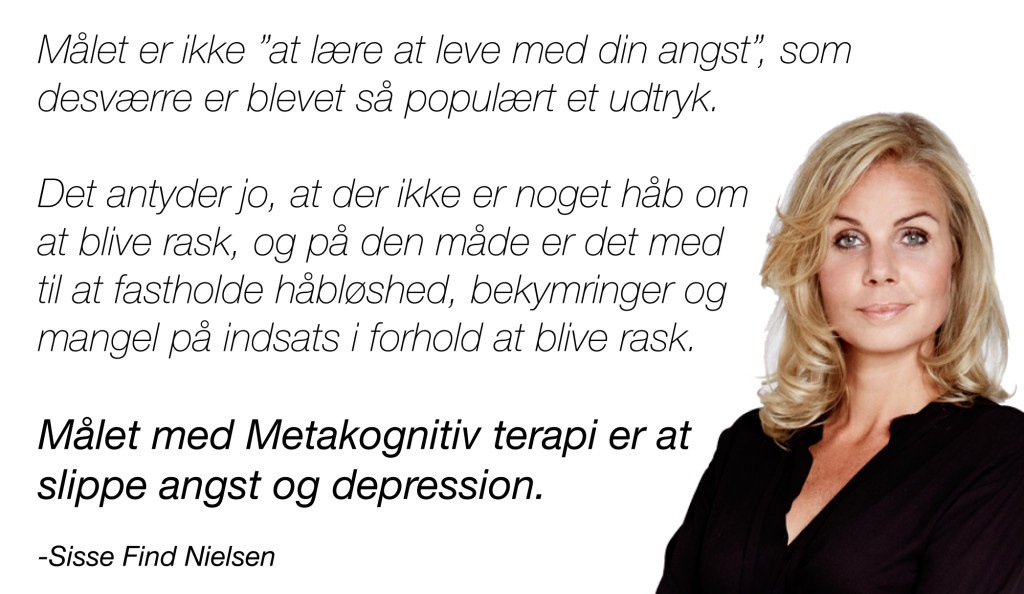 metakognitiv terapi for angst og depression