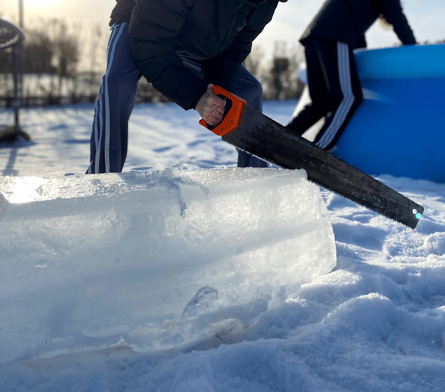30-40 cm is Wim Hof Metoden isbad og angst
